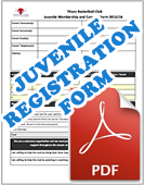 Juvenile Registration Form 2016-17 Season